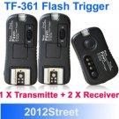 Pixel TF-361 Wireless Flash Trigger Canon flashgun trigger with 2 receiver