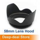 58mm lens Hood 58mm Flower Camera Hood Petal for Canon EOS 18-55 lens