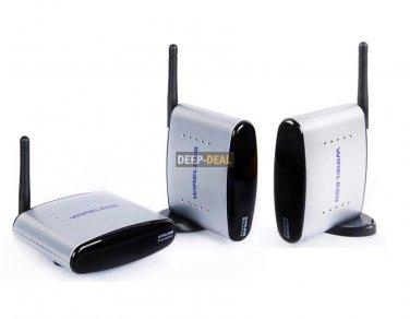 2.4GHz PAT-330 Wireless Audio Video AV Transmitter with 2 Receiver