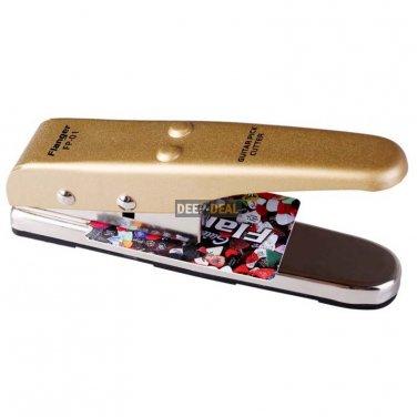 Custom Guitar Pick Puncher- Make Your Own Guitar Picks Gold
