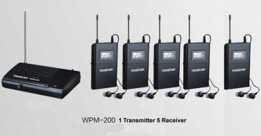 wpm-200 WPM-100 Wireless Monitor System In-Ear Sterem 1 Transmitter 5 Receivers