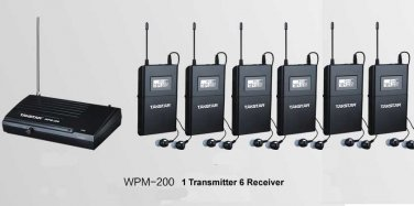 wpm-200 WPM-100 Wireless Monitor System In-Ear Sterem 1 Transmitter 6 Receivers