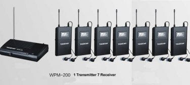 wpm-200 WPM-100 Wireless Monitor System In-Ear Sterem 1 Transmitter 7 Receivers