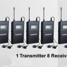 wpm-200 WPM-100 Wireless Monitor System In-Ear Sterem 1 Transmitter 8 Receivers