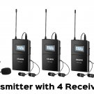ANLEON MTG-100  UHF Tour Guide Wireless System 1 Transmitter with 4 Receivers