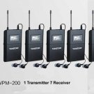 Wireless In-Ear Monitoring System w/ 6 Selectable UHF Channels 7 Receiver