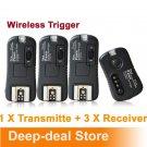TF361 wireless Flash Trigger Canon 1 Transmitte 3 Receiver studio light trigger