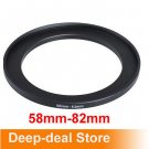 58mm-82mm 58-82 mm 58 to 82 Step Up Filter Ring Adapter