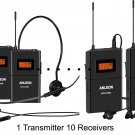 ANLEON 10-Person Portable Translation / Wireless Tourguide System