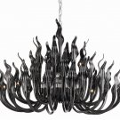 Black 119 Light handblown GLASS CHANDELIER  Murano Style REG $40,000