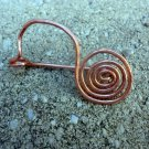 Querida - hammered copper fibula pin