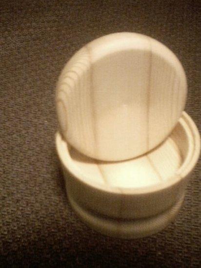 pine wood jar w/lid