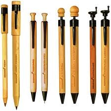 Wood handled pens