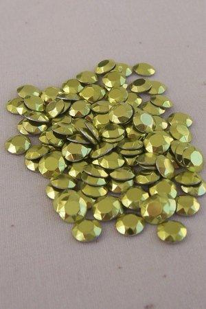 4mm Hot Fix Rhinestuds Light Green 1gross(144pcs)