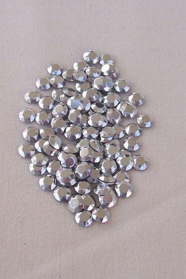 5mm Hot Fix Rhinestuds  Silver 1gross(144pcs)