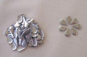Hot Fix Rhinestud Water Drops 6x10mm Silver 1gross (144pcs)