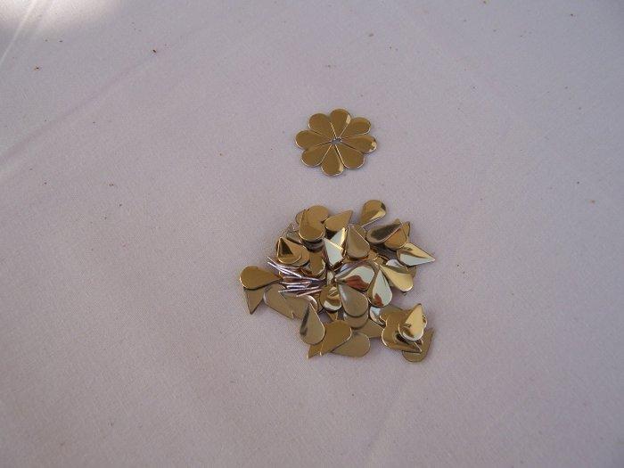 Hot Fix Rhinestud Water Drops 6x10mm Gold 1gross (144pcs)