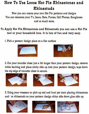 INSTRUCTIONS FOR RHINESTONES & RHINESTUDS