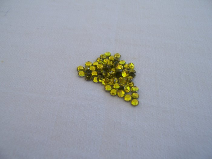 16ss (4mm) Hot Fix Rhinestones Yellow 1gross (144pcs)