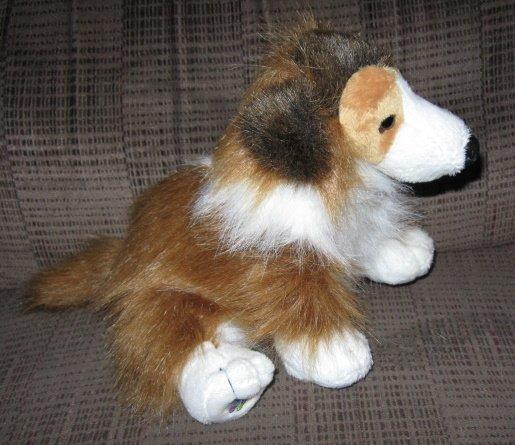 Ganz Webkinz Plush Collie Dog Retired Stuffed Animal