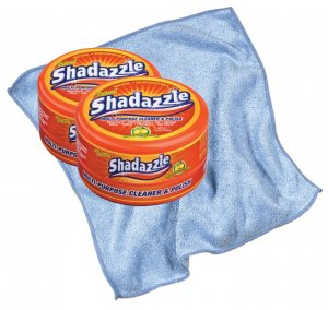 Shadazzle 90022 2 Multi-Purpose Cleaner & Polisher Tubs + Polishing Cloth