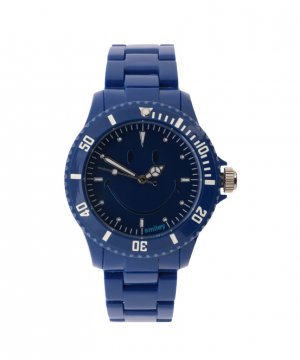 "Wave Gear Smiley ""Happy Time"" Men's WGS-UDBV01 Urban Dark Blue Analogue Watch"