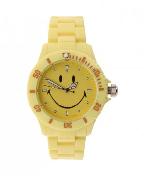 "Wave Gear Smiley ""Happy Time"" Women's WGS-PPYV01 Pretty Pastel Yellow Analogue Watch"