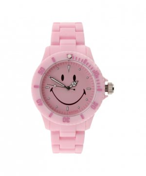 "Wave Gear Smiley ""Happy Time"" Women's WGS-PPPKV01 Pretty Pastel Pink Analogue Watch"