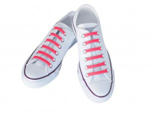 Silly Laces Silicone Slip On Shoelaces Pink Kids (Narrow) Shoe Size