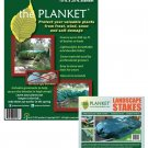 The Planket Plant Frost Protection Cover Kit (10 ft x 20 ft Rectangular with 14 Landscape Stakes)