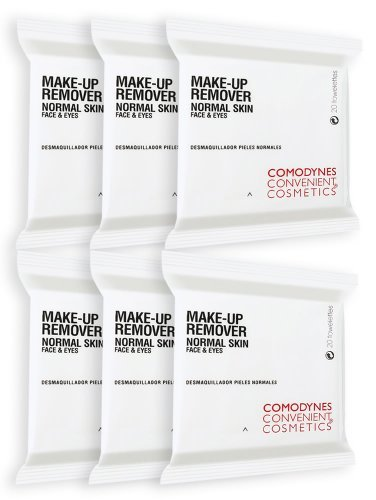 Comodynes MKR-N Make-Up Remover Towelettes for Normal Skin (120 Pack)