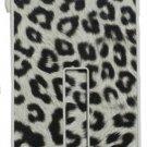 Pushring iPhone 5 Leather Phone Case, Leopard  White