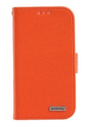Pushring Galaxy S4 Diary Phone Case, Designer Orange