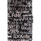 Pushring Galaxy S4 Diary Phone Case, Letter Black