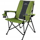 STRONGBACK Elite Camp Chair - Lime Green and Grey
