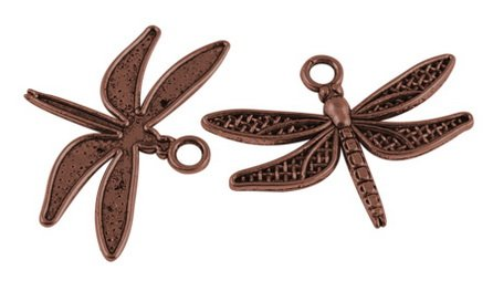 Vintage Dragonfly Charm Pendant Bulk Lot of 5