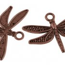 Vintage Dragonfly Charm Pendant Bulk Lot of 5