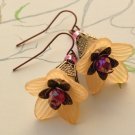Flower Earrings - Peach