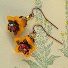 Flower Earrings - Marigold