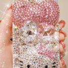 New 3D Iphone 4 4s Bling Crystal Pink Hello Kitty Big Bow Case Cover Verizon 4