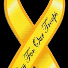 Pray for our Troops Ribbon Magnet