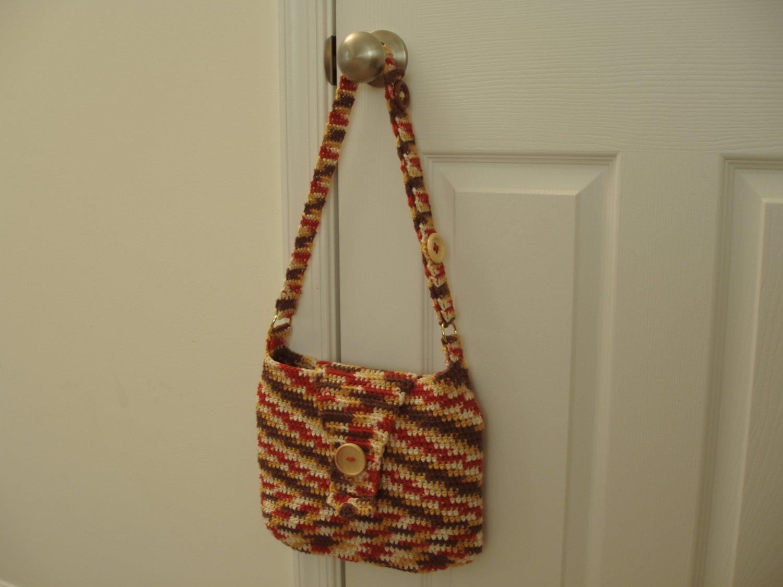 Handbag purse tote coral adjustable strap