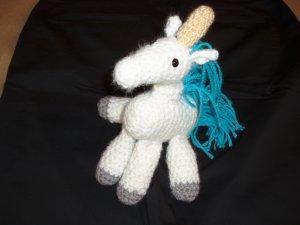 Unicorn Amigurumi Crocheted Toy