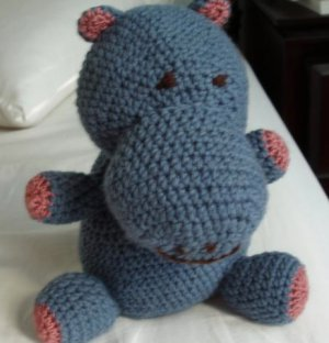 Hippo toy  plush baby
