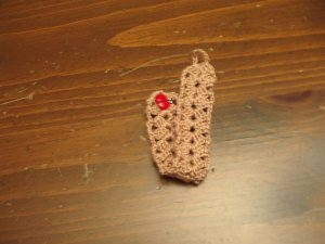 Cotton Crochet Bracelet Ladybug Button