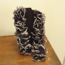 Black and Silver Frilly Scarf
