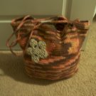 Cotton crocheted bag purse tote satchel