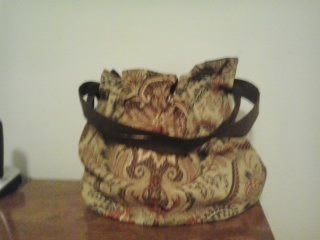 Large reversible cotton tote/purse lined