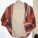 CLEARANCE! Warm, cozy, rust, brown SHRUG
