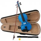 Blue Acoustic Violin Full Size 4/4 + Bow + Case + Rosin